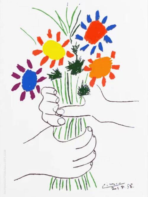 Bouquet of Peace Painting By Pablo Picasso - Reproduction Gallery