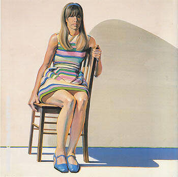 Girl in Blue Shoes 1968 By Wayne Thiebaud Replica Paintings on Canvas - Reproduction Gallery