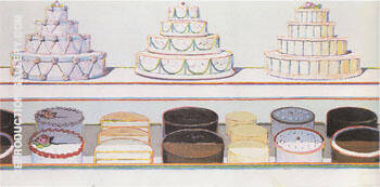 Candy Counter 1969 By Wayne Thiebaud Replica Paintings on Canvas - Reproduction Gallery