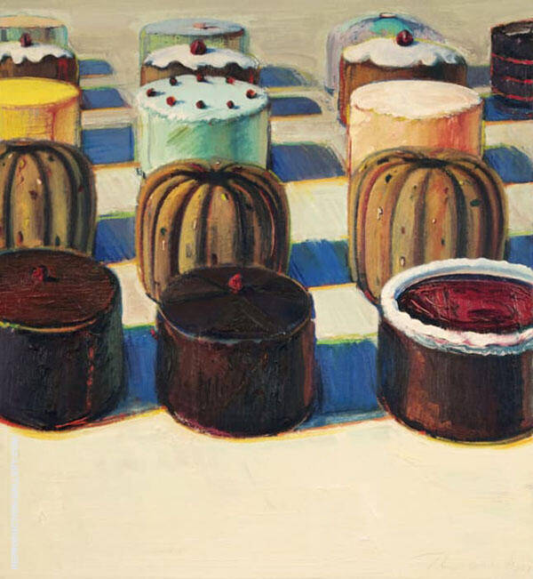 Various Cakes Painting By Wayne Thiebaud - Reproduction Gallery