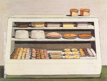 Bakery Counter By Wayne Thiebaud Replica Paintings on Canvas - Reproduction Gallery