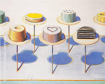 Reproduction of Cake Window Seven Cakes by Wayne Thiebaud | Oil Painting Replica On CanvasReproduction Gallery