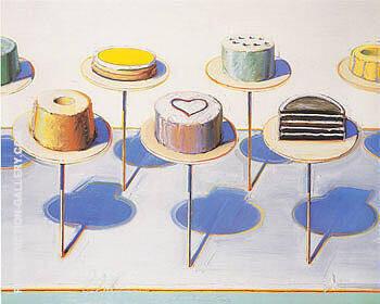Cake Window Seven Cakes By Wayne Thiebaud