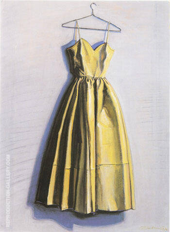 Yellow Dress Painting By Wayne Thiebaud - Reproduction Gallery
