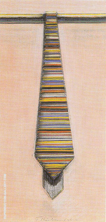 Striped Necktie By Wayne Thiebaud