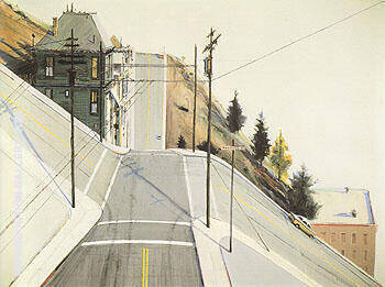 24th Street Intersection By Wayne Thiebaud