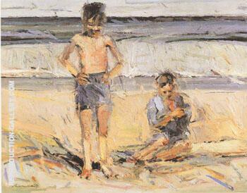 Beach Boys Painting By Wayne Thiebaud - Reproduction Gallery