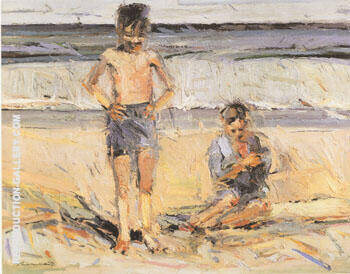 Beach Boys By Wayne Thiebaud