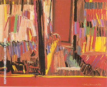 Ribbon Store By Wayne Thiebaud Replica Paintings on Canvas - Reproduction Gallery