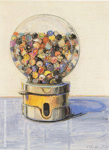 Candy Ball Machine Painting By Wayne Thiebaud - Reproduction Gallery