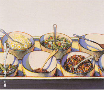 Deli Bowls Painting By Wayne Thiebaud - Reproduction Gallery