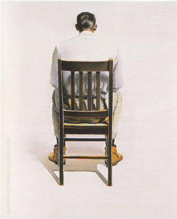 Man Sitting Back View Painting By Wayne Thiebaud - Reproduction Gallery