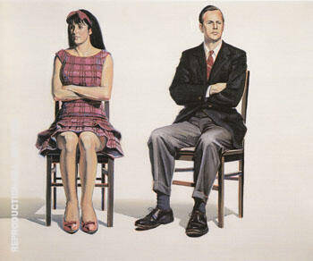 Two Seated Figures Painting By Wayne Thiebaud - Reproduction Gallery