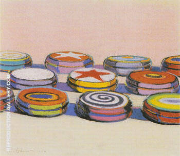 Yo Yo 1964 By Wayne Thiebaud Replica Paintings on Canvas - Reproduction Gallery