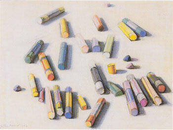 Various Pastels Painting By Wayne Thiebaud - Reproduction Gallery