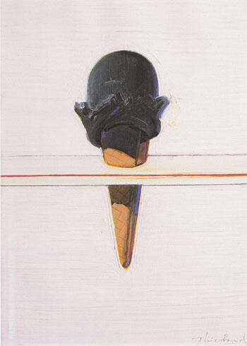Black Ice Cream By Wayne Thiebaud Replica Paintings on Canvas - Reproduction Gallery