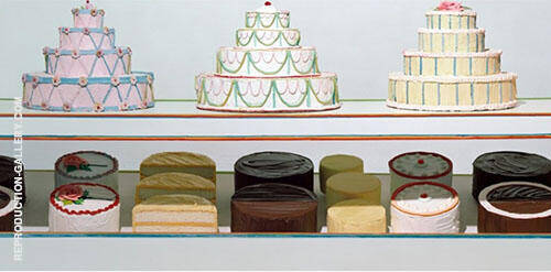 Cake Counter Painting By Wayne Thiebaud - Reproduction Gallery