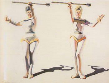 Two Majorettes By Wayne Thiebaud