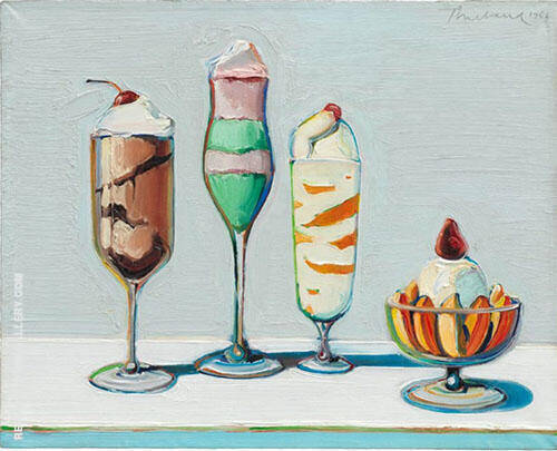 Confections Painting By Wayne Thiebaud - Reproduction Gallery