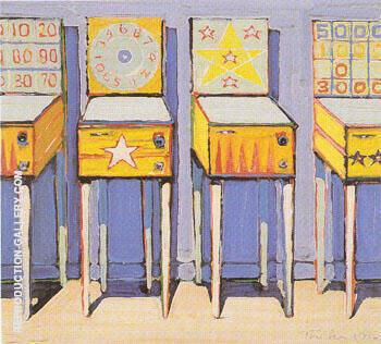 Four Pin Ball Machines By Wayne Thiebaud