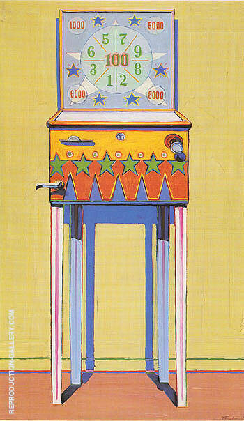 Reproduction of Star Pinball by Wayne Thiebaud | Oil Painting Replica On CanvasReproduction Gallery