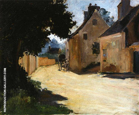 Village Street Louveciennes c1871 Painting By Pierre Auguste Renoir