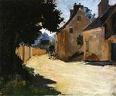 Village Street Louveciennes c1871 By Pierre Auguste Renoir