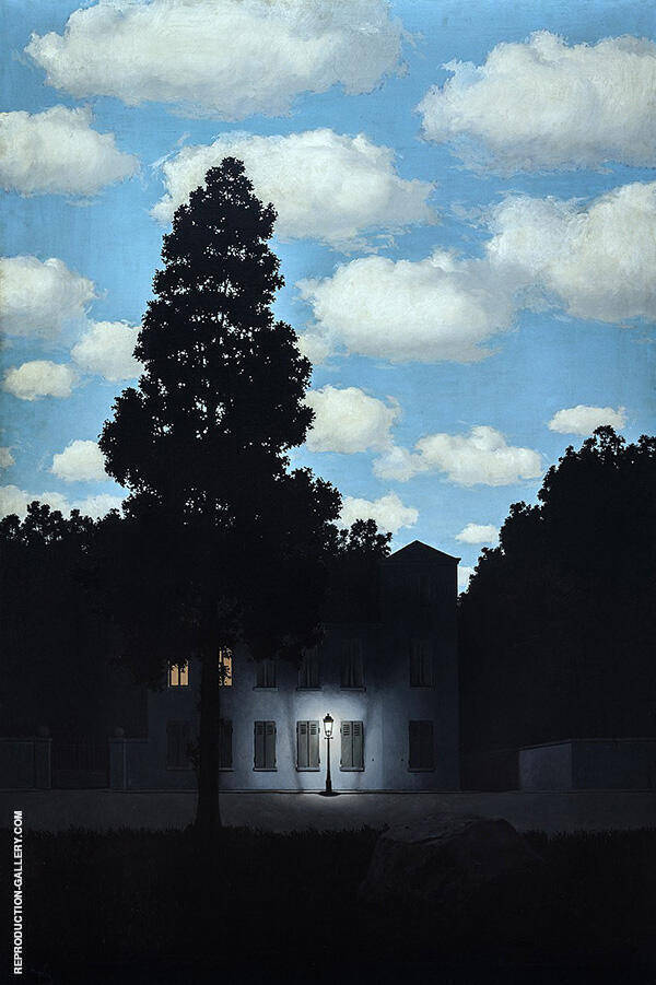 Empire of Light c1950-54 By Rene Magritte