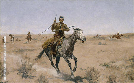 The Flight 1895 Painting By Frederic Remington - Reproduction Gallery