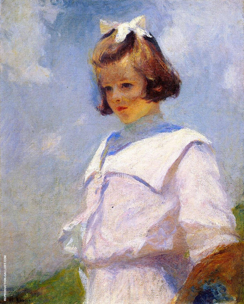Portrait of Elizabeth 1901 By Frank Weston Benson Replica Paintings on Canvas - Reproduction Gallery
