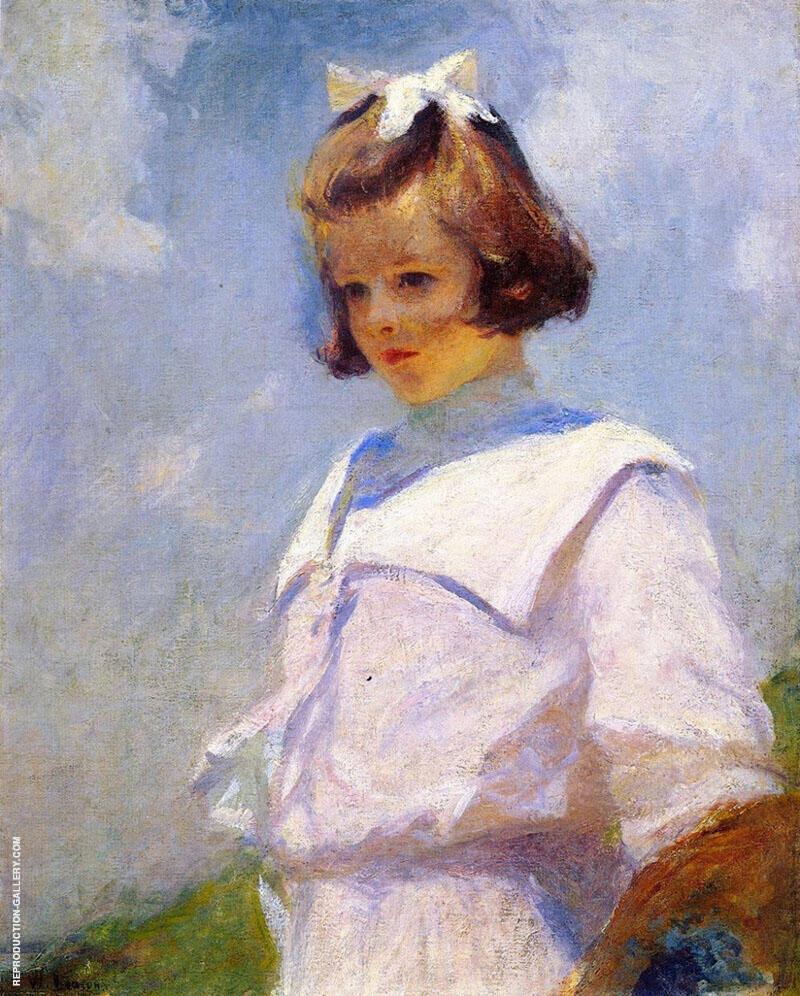 Portrait of Elizabeth 1901 By Frank Weston Benson