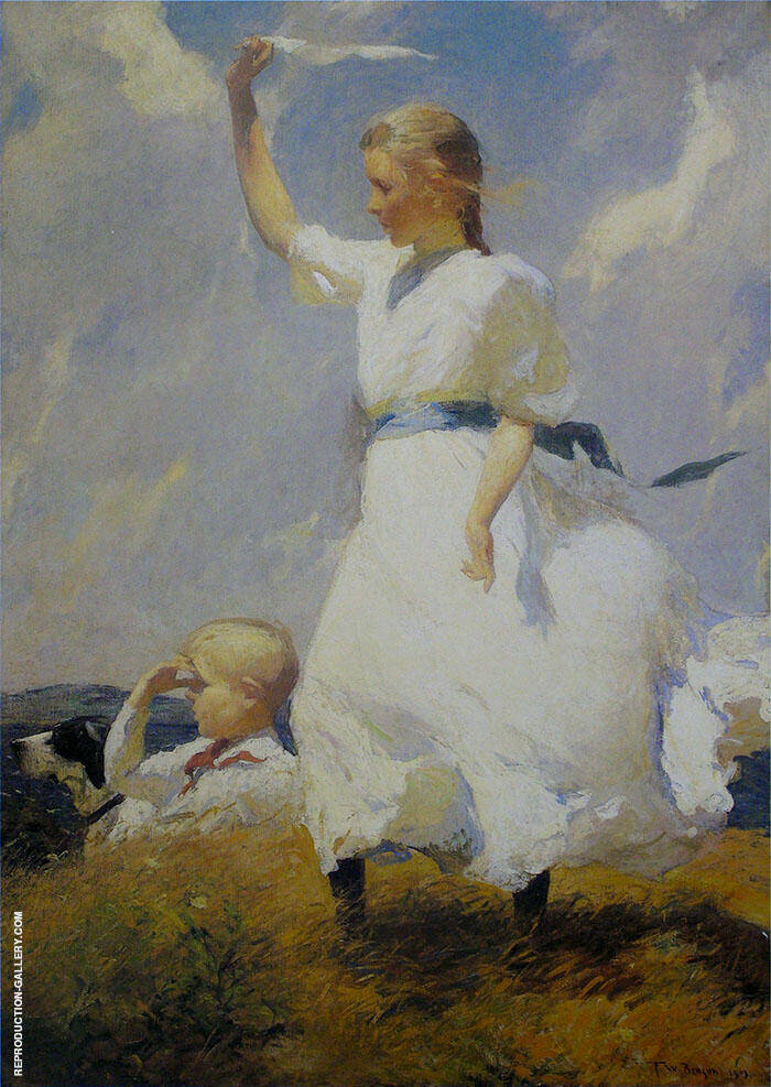 The Hilltop By Frank Weston Benson Replica Paintings on Canvas - Reproduction Gallery
