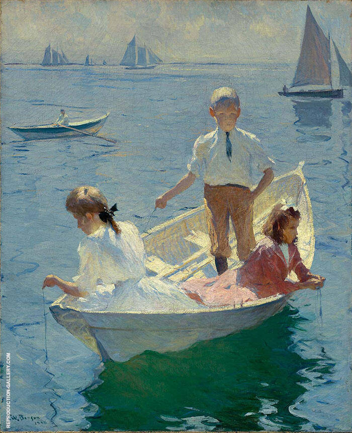Calm Morning 1904 By Frank Weston Benson Replica Paintings on Canvas - Reproduction Gallery