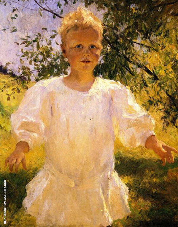 Laddie 1908 By Frank Weston Benson Replica Paintings on Canvas - Reproduction Gallery