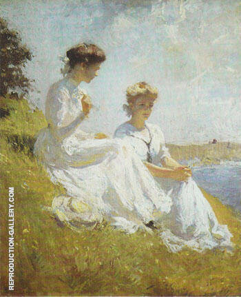 Elisabeth and Anna 1909 By Frank Weston Benson - Oil Paintings & Art Reproductions - Reproduction Gallery