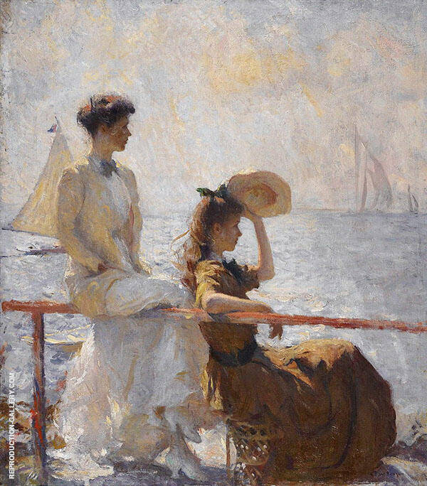Summer Day 1911 Painting By Frank Weston Benson - Reproduction Gallery