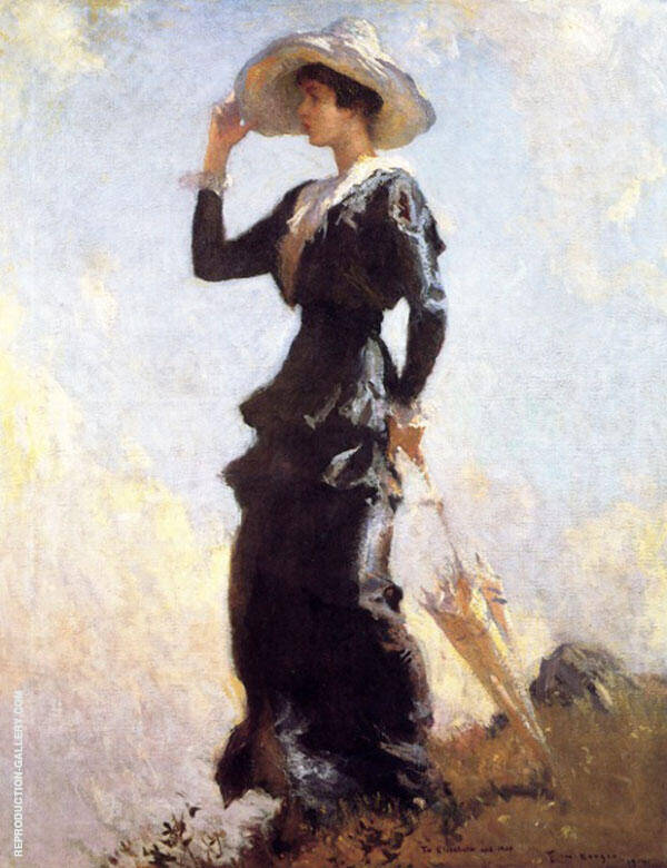 The Hill Top 1914 By Frank Weston Benson Replica Paintings on Canvas - Reproduction Gallery