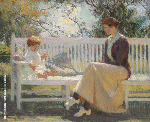 Eleanor and Benny 1916 By Frank Weston Benson Replica Paintings on Canvas - Reproduction Gallery