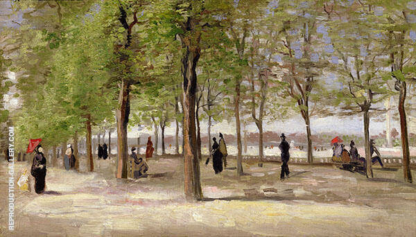 Lane at The Jardin du Luxembourg 1886 By Vincent van Gogh