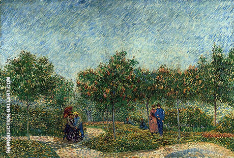 Voyer d'Argenson Park at Asnieres By Vincent van Gogh - Oil Paintings & Art Reproductions - Reproduction Gallery
