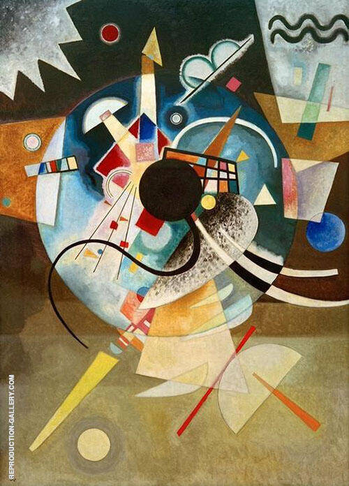 Reproduction of One Center by Wassily Kandinsky | Oil Painting Replica On CanvasReproduction Gallery