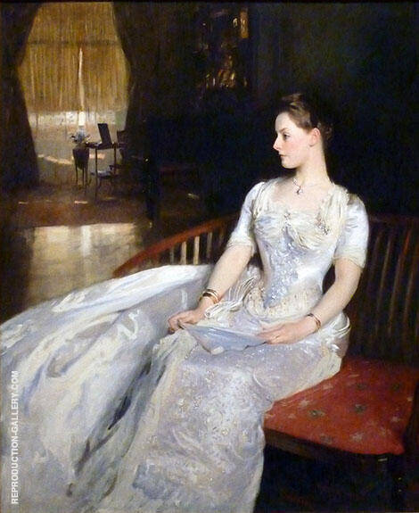 Reproduction of Mrs. Cecil Wade 1886 by John Singer Sargent | Oil Painting Replica On CanvasReproduction Gallery