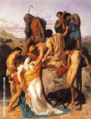 Zenobia Found by Shepherds on the Banks of the Araxes 1850 By William-Adolphe Bouguereau - Oil Paintings & Art Reproductions - Reproduction Gallery