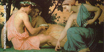 Spring 1858 By William-Adolphe Bouguereau - Oil Paintings & Art Reproductions - Reproduction Gallery