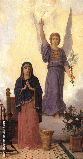 The Annunciation 1888 By William-Adolphe Bouguereau Replica Paintings on Canvas - Reproduction Gallery