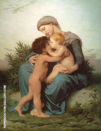 Fraternal Love 1851 By William-Adolphe Bouguereau Replica Paintings on Canvas - Reproduction Gallery