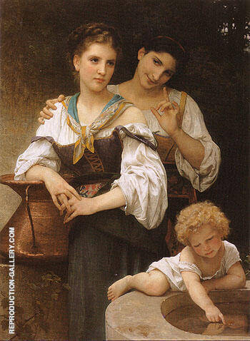 Reproduction of The Secret c1876 by William-Adolphe Bouguereau | Oil Painting Replica On CanvasReproduction Gallery