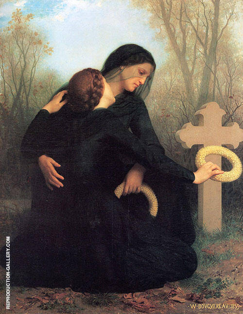 The Day of The Dead 1859 Painting By William-Adolphe Bouguereau