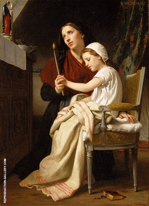 The Thank Offering 1867 By William-Adolphe Bouguereau Replica Paintings on Canvas - Reproduction Gallery