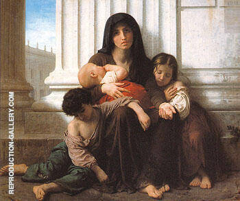 Indigent Family Charity 1865 Painting By William-Adolphe Bouguereau